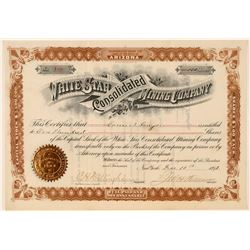 White Star Cons. Mining Company Stock Certificate (Idaho and Nevada)  (100899)