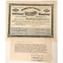 Moreno Valley Gold Gravel Mining Company Stock  (90547)