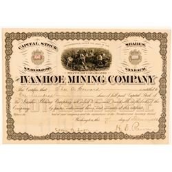 Ivanhoe Mining Company Stock Certificate  (91626)