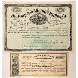 Emperor Mining & Milling Company Stock  (99502)
