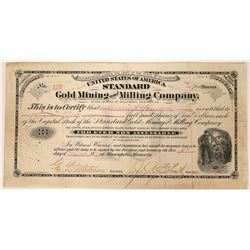 United States of America Standard Gold Mining and Milling Company Stock  (90534)
