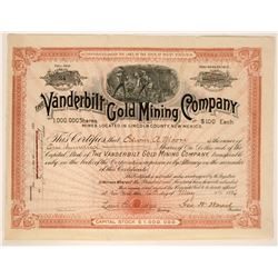 Vanderbilt Gold Mining Company Stock - Short Lived  (90540)