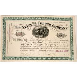 Santa Fe Copper Company Stock  (90537)