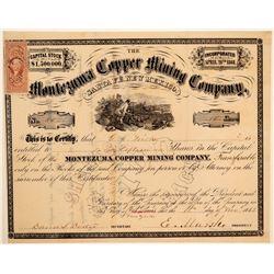 Montezuma Copper Mining Company Stock Certificate  (102201)