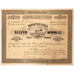 Montezuma Silver Mining Company, New Mexico Stock  (91881)