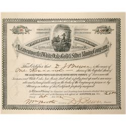 Leavenworth and White Oaks Gold and Silver Mining Company Stock  (90555)