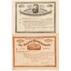 Two New Mexico Mining Stock Certificates  (100763)