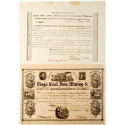 Tioga Coal, Iron, Mining & Manufacturing Co. Stock  (81913)