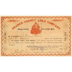 Orange County Lead Company Stock Certificate  (102227)