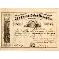 Rare Consolidated Mining Company of North Carolina Stock  (81911)