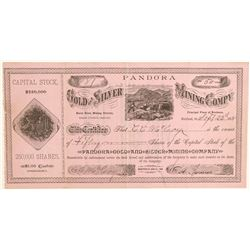 Pandora Gold & Silver MIning Company Stock  (91976)