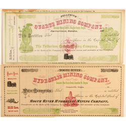 Two Canyonville Unissued, Colorful Stock Certificates  (91979)
