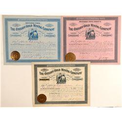 Oregon Gold MIning Company of Louisville Kentucky Stocks  (91972)