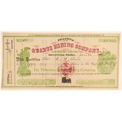 Tellurium Quartz Mining Company Stock  (91978)