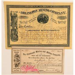 Cincinnatti and Arlington Mining Stocks  (91968)