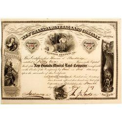 New Granada Mineral Land Company Stock  (81948)