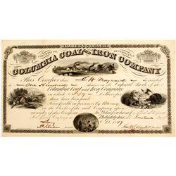 Columbia Coal and Iron Company Stock  (81944)