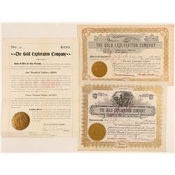 Gold Exploration Company Stocks & Bond  (91811)