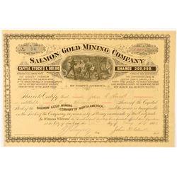 Salmon Mining Co. Stock Certificate, Black Hills, South Dakota  (100779)