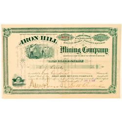Iron Hill Mining Co. Stock Certificate signed by Seth Bullock  (100773)