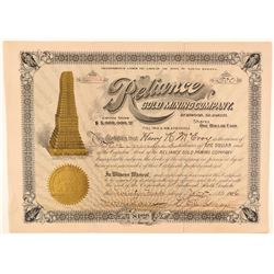 Reliance Gold Mining Company Stock  (91685)