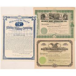 Three Branch Mint Stocks  (91686)