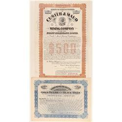 Two Dakota Mining Stocks & One Bond  (100807)