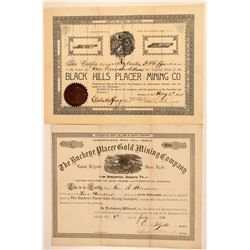 Two Black Hills, Dakota Mining Stock Certificates  (100855)