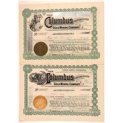 Pair of Black Hills Mining Stock Certificates  (91681)