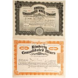 Kimberly Consolidated Mines - 2 certificates  (77229)