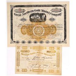 Two South Dakota Mining Stock Certificates  (100783)