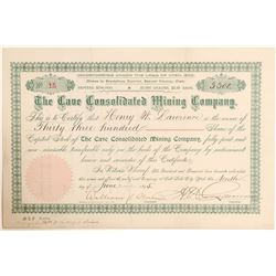 The Cave Consolidated Mining Company Stock Certificate  (100794)