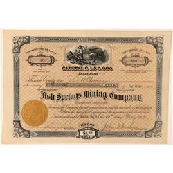 Fish Springs Mining Company Stock Certificate  (100789)