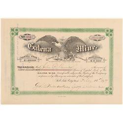 Galena Mine Stock Certificate  (100801)
