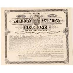 American Antimony Company Bond  (100862)