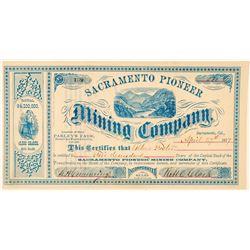 Sacramento Pioneer Mining Company Stock Certificate  (100831)