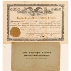 Brooklyn Eureka Mining & Milling Co. Stock & Prospectus  (100795)