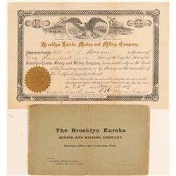 Brooklyn Eureka Mining & Milling Co. Stock & Prospectus  (100795)