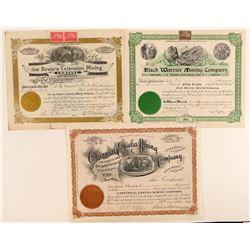 Three Different Tintic Utah Mining Stock Certificates  (100798)