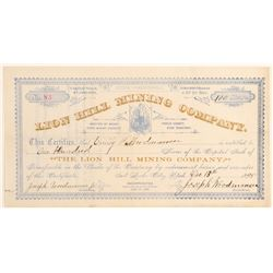 Lion Hill Mining Company Stock Certificate  (100797)