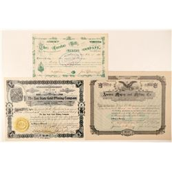 Three Different Utah Mining Stock Certificates  (100788)