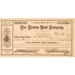 Renton Coal Company Stock Certificate  (100977)