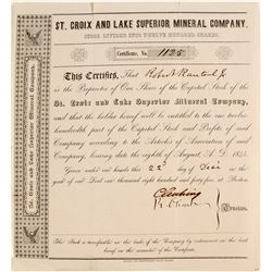 St. Croix and Lake Superior Mineral Co. Stock  (82105)