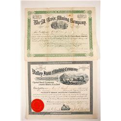 St. Croix Mining & Valley Iron Mining Stocks  (80766)