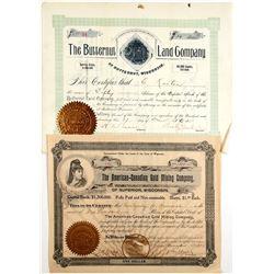 Wisconsin Mining Stocks (2)  (82557)