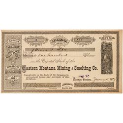 Eastern Montana Mining & Smelting Co. Stock--Number 1  (101486)