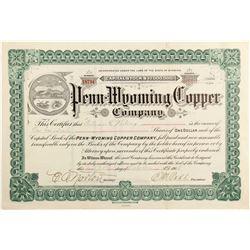 Penn-Wyoming Copper Co - Wyoming  (81830)