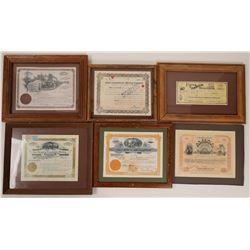 8 Mining stocks (7 framed)  (100412)