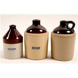 Earthenware Crockery Mercury Flasks (3)  (91315)