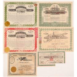 Fancy Oil Company Stock Certificates  (103573)